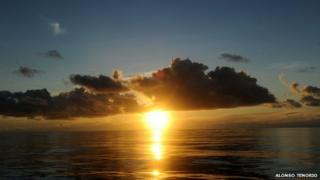 View of the sea off Cocos Island