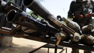 Recovered Boko Haram weapons - April 2013