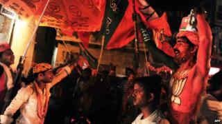 BJP supporters in Varanasi