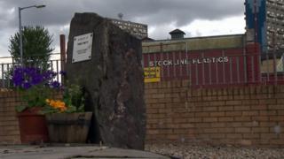 Stockline tragedy memorial garden