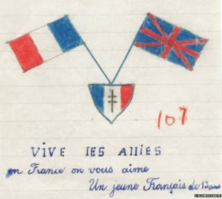 Letter shows French and UK flags together