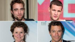 Clockwise from top left: Robert Pattinson, Matt Smith, Dominic West, Imelda Staunton