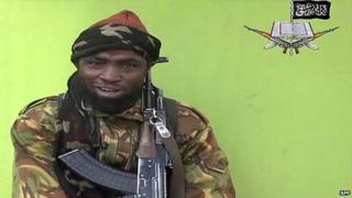 Boko Haram leader Abubakar Shekau pictured in a video released by the group - 12 May 2014