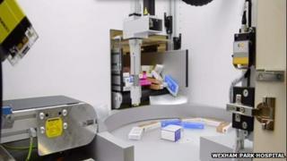 Pharmacy robot at Wexham Park Hospital