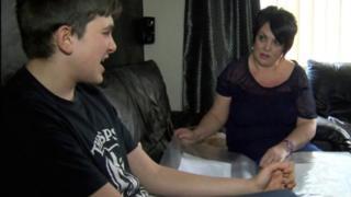 Bernadette Horton and her son Luca