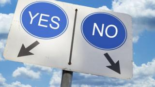 yes/no sign