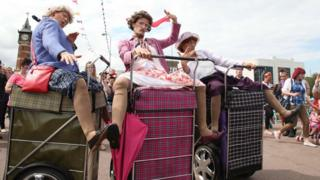 Granny Turismo performing in Skegness