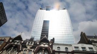 Glare from 20 Fenchurch Street skyscraper