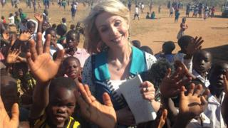 BBC East Midlands Today presenter Anne Davies in Malawi, Africa