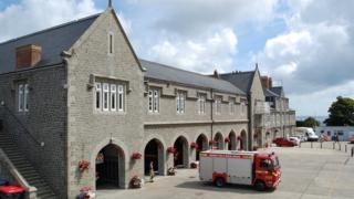 Guernsey's fire station
