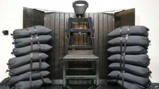 The firing squad chamber in Utah State Prison