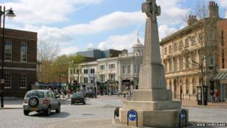 Taunton town centre by Nick Chipchase