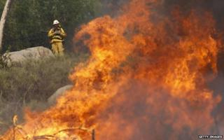 Firefighter in San Marcos