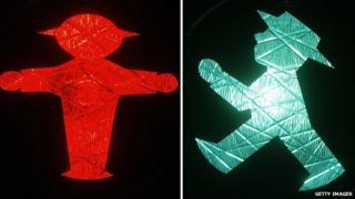 Berlin's Ampelmann traffic light sign