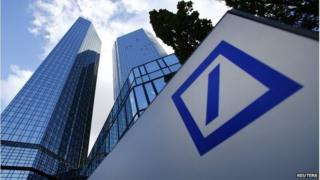 headquarters of Deutsche Bank is seen in Frankfurt in this October 29, 2013 file photo