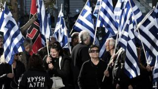 Golden Dawn rally in Athens, 11 Jan 2014