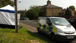 Police cordon at Reinwood Road