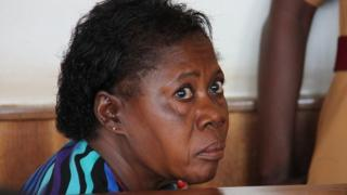 Rosemary Namubiru in court in Kampala on 19 May 2014