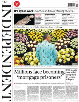 The Independent front page