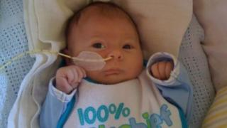 Luke Weaving-Shorrocks aged two months