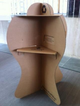 Cardboard polling booth