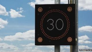 Illuminated speed sign