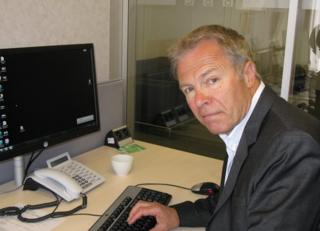 Gavin Hewitt in BBC Brussels bureau