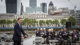 David Cameron addresses veterans
