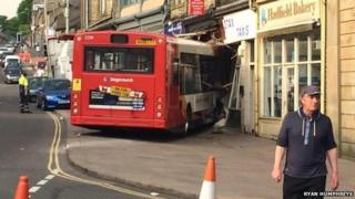 Bus in Glossop