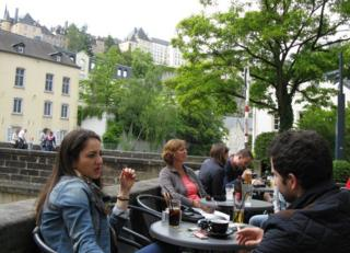 Cafe in Luxembourg City - Grund district