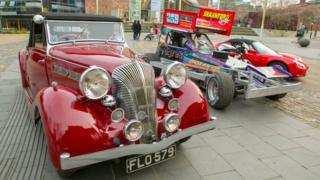A mixture of classic and racing cars