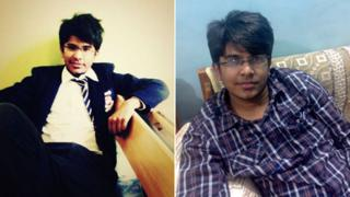 Two photos of Qaiser Ali