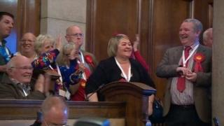 Labour councillors celebrate in Hull