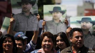 Pro-Portillo demo in Guatemala City