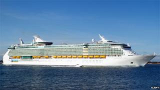 Independence of the Seas leaving Southampton