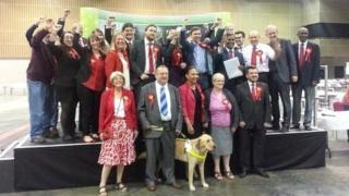 Labour celebrate success in Milton Keynes
