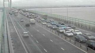 Traffic on the Second Severn Crossing