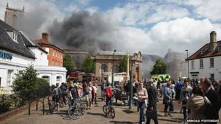 Fire in Fakenham