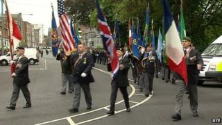Veterans from several countries took part in the parade in Limerick city centre