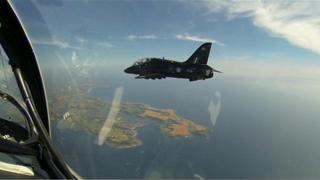 Hawks flying above Cornwall