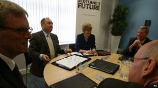 Alex Salmond with his Cabinet