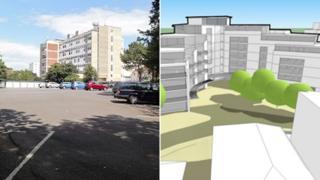 Current car park and site plans
