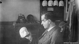 A patient with a mask