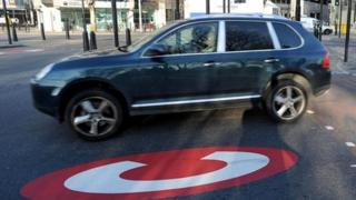 Congestion charge zone in London