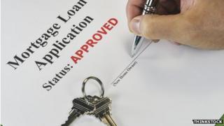 Mortgage loan application and keys