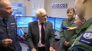 Sir David Jason talks to RAF cadets