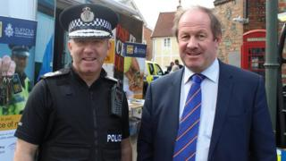 Suffolk Chief Constable Douglas Paxton and Suffolk Police and Crime Commissioner Tim Passmore