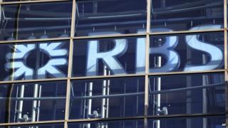 RBS sign at its City of London headquarters