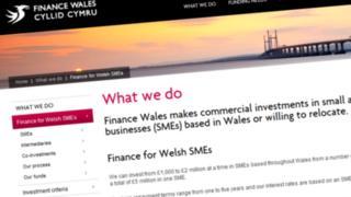 Finance Wales website