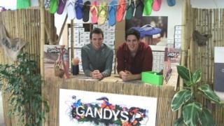 Paul and Rob Forkan of Gandys Flip Flops